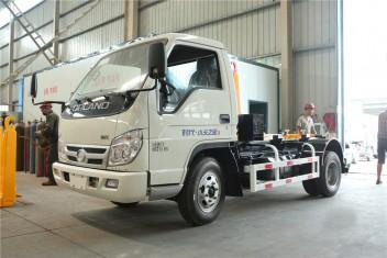 福田小卡(4-5方)车厢可卸式垃圾车